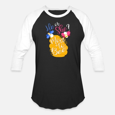 Mummy He or She Bubble Bee - Gender Reveal - Unisex Baseball T-Shirt