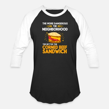 Corned beef sandwich - Unisex Baseball T-Shirt
