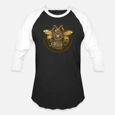 Wall Bee Steampunk Wall Clock - Unisex Baseball T-Shirt