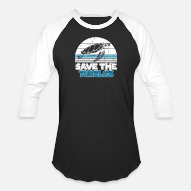 Save save the turtles - Unisex Baseball T-Shirt