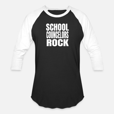 Staff School Counselors Rock Cute Guidance Counselor - Unisex Baseball T-Shirt