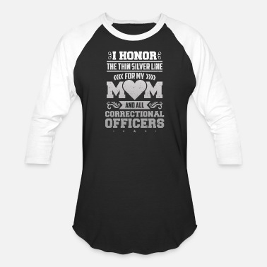 Read Honor Corrections Officer Thin Silver Line Police - Unisex Baseball T-Shirt