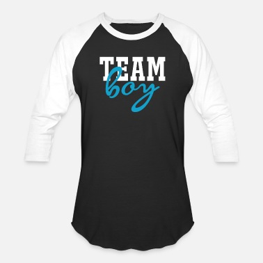 Team Team Boy Gender Reveal Baby Shower Party - Unisex Baseball T-Shirt