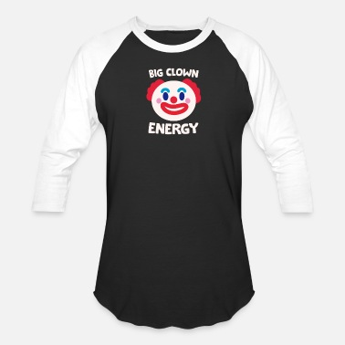 Funny Big Clown Energy Detective Forensics Theme - Unisex Baseball T-Shirt