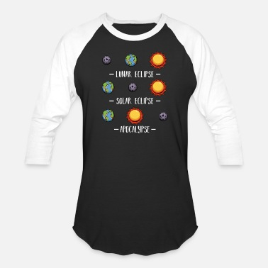 Body Lunar Solar Eclipse and Apocalypse Astronomy - Unisex Baseball T-Shirt