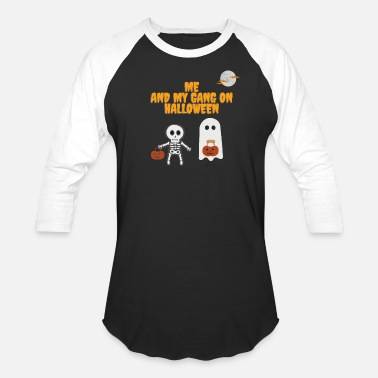 Me and my gang on halloween scary cute ghost hallo - Unisex Baseball T-Shirt