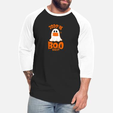 Sheet Metal 2020 Boo Sheet Funny Ghost in Mask Simple Hallowee - Unisex Baseball T-Shirt