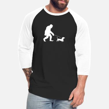 Dachshundlove Bigfoot Walking Dachshund | Bigfoot Wiener Dog - Unisex Baseball T-Shirt