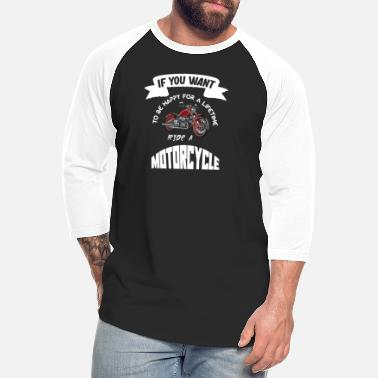 Motorcycles ride a motorcycle - Unisex Baseball T-Shirt