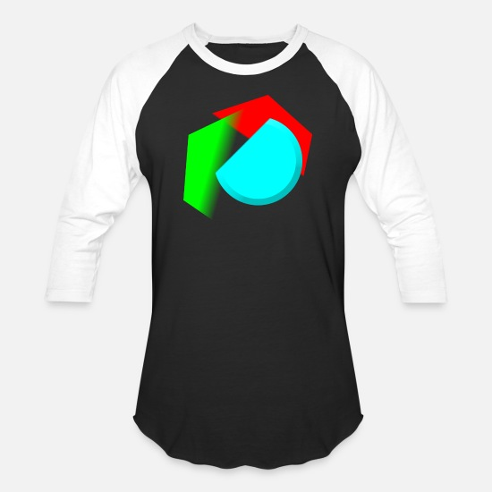 Symbol  T-Shirts - Form - Unisex Baseball T-Shirt black/white