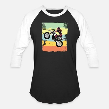 Dirt Bike Girl Dirt Biking Motocross Supercross Design Womens - Unisex Baseball T-Shirt