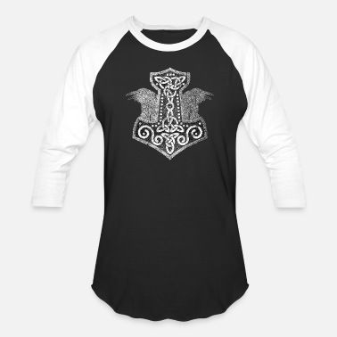 Mjolnir Mjolnir - the hammer of Thor - Unisex Baseball T-Shirt