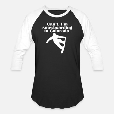 Filipino Funny Snowboarding - can't i'm a snowboarding in color - Baseball T-Shirt