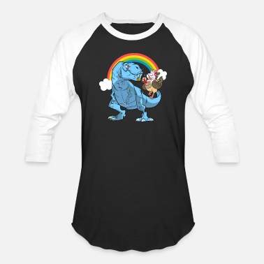 Trex Tyrannosaurus Rex Unicorn Turkey Thanksgiving - Baseball T-Shirt