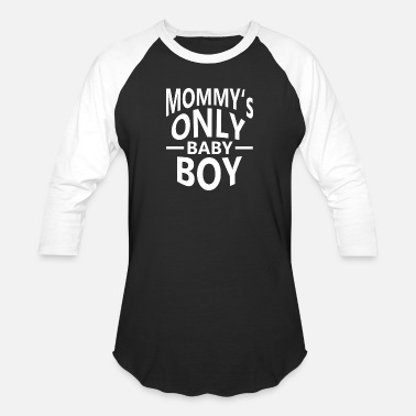 Baby Loves Mommy mommys only baby boy - Baseball T-Shirt