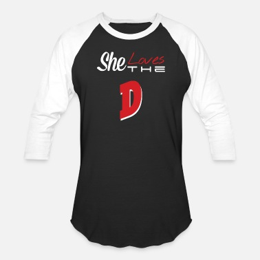 Spyros The D - she loves the D - Baseball T-Shirt