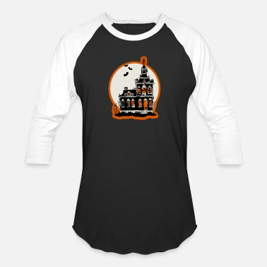 Haunted Vintage haunted house - Unisex Baseball T-Shirt