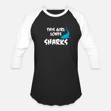 Hot Girl Shark gurl love Shark Baby Shark Mummy Shark Girl - Unisex Baseball T-Shirt