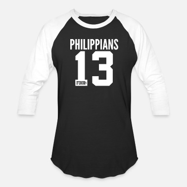 Bible Quotes Philippians 4:13 Christian Bible Verse Quote - Unisex Baseball T-Shirt