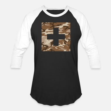Swiss Cross Swiss Military Flag - Unisex Baseball T-Shirt