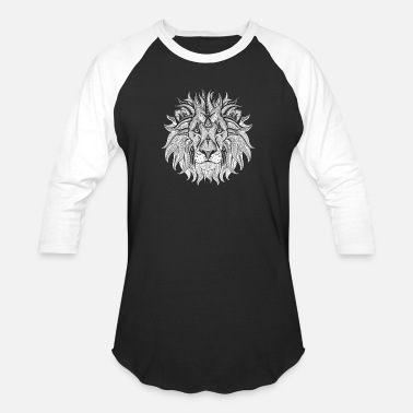 Ethnic Tribal Ethnic Tribal Lion BW - Unisex Baseball T-Shirt