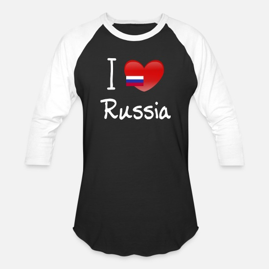 Rusia T-Shirts - I love Russia - Unisex Baseball T-Shirt black/white