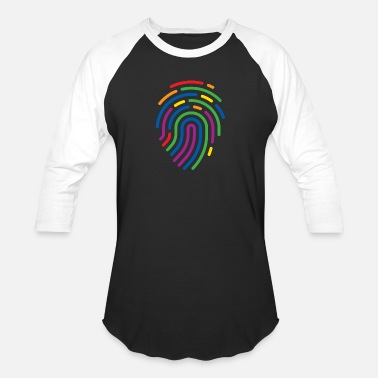 Subtle Rainbow Fingerprint, Gay Pride, LGBTQ Gift - Unisex Baseball T-Shirt