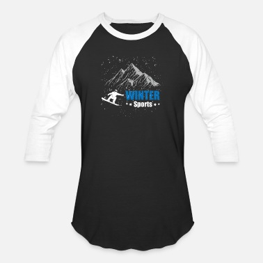 Editing Sports Winter Sports - Snowboarding - Limited Edition - Baseball T-Shirt