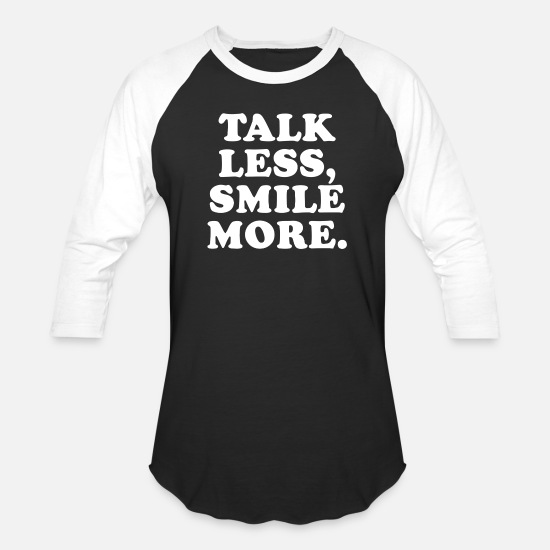 Music T-Shirts - Talk Less Smile More - Unisex Baseball T-Shirt black/white