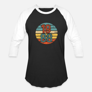 1986 1988 Birthday Year Retro Vintage Distressed Gift - Baseball T-Shirt