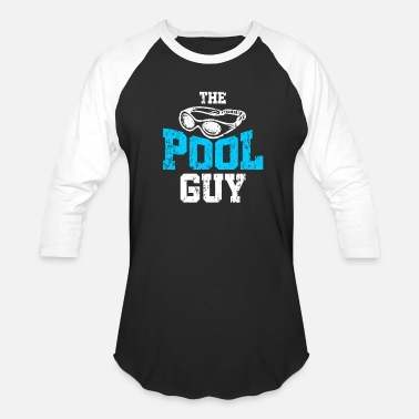 Swimming Pool Swimming pool guy - Unisex Baseball T-Shirt