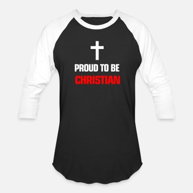 Some Proud be Christian Inspirational Quote with Text - Unisex Baseball T-Shirt