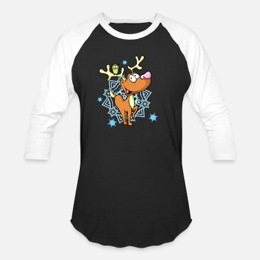 Draw Kids T Shirt Design deer owl snowflake cool vector - Baseball T-Shirt