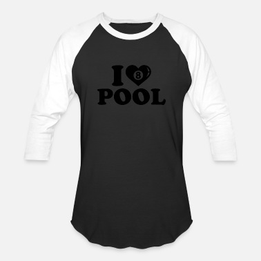 Pool Lover pool lover - Unisex Baseball T-Shirt