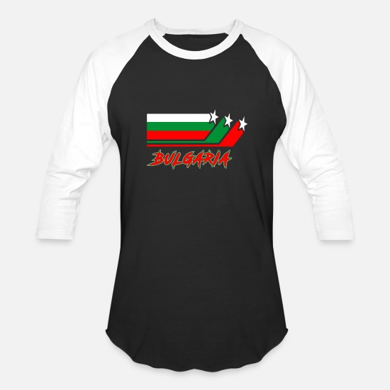 Patriot T-Shirts - Bulgaria Flag / Gift National Flag Sofia - Unisex Baseball T-Shirt black/white