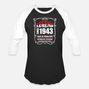 Army T. Legend since 1943 Aged to Perfection Authentic Vin - Unisex Baseball T-Shirt