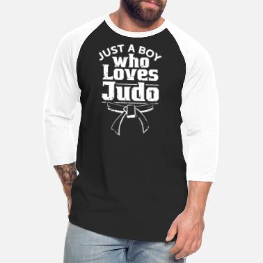 Lesson A Boy Who Loves Judo Martial Arts Judoka Belt - Unisex Baseball T-Shirt