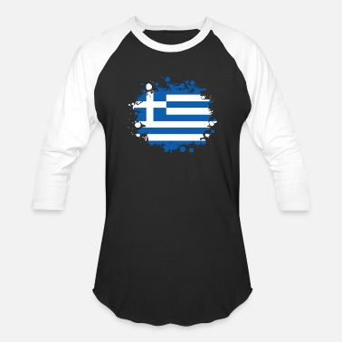 Crete Greece blob / gift Athens flag Greece Crete - Baseball T-Shirt