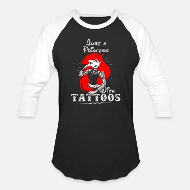 Tattoo Motorcycle beard tattoo - just a princess with t - Baseball T-Shirt