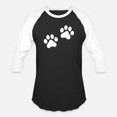 Trend Animal Paws paw print pet dogs cats feet - Unisex Baseball T-Shirt