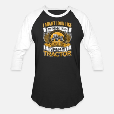 Oliver Tractor Tractor - Tractor - in my head i'm driving my tr - Baseball T-Shirt