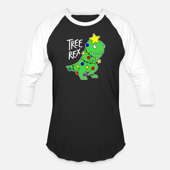 071fea7d7791e2 Rex T-Shirts - Tree Rex - Funny Dinosaur Christmas Tree - Unisex Baseball T