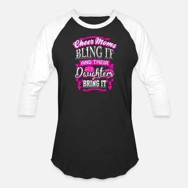 Mom Cheer Mom Daughter Cheerleader Cheerleading Gift - Baseball T-Shirt