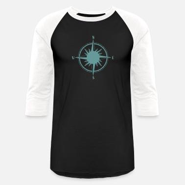 b6583613f251d Nautical Compass Nautical Sailing Compass - Unisex Baseball T-Shirt