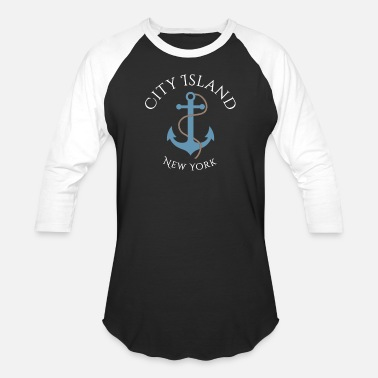 City City Island, New York - Unisex Baseball T-Shirt