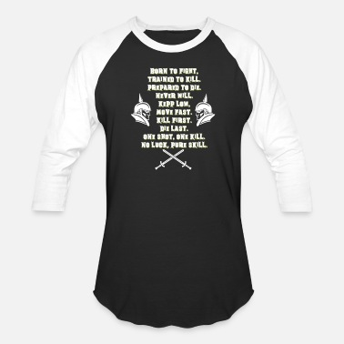 Killed Afghanistan BORN TO FIGHT TRAINED TO KILL PREPAID TO DIE - Baseball T-Shirt