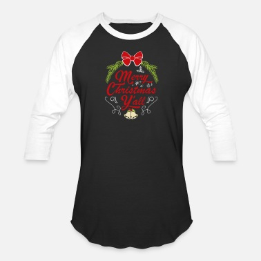 Merry Christmas Gifts for Adults: Merry Christmas Y'all - Unisex Baseball T-Shirt