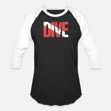 Scuba DIVE | Scuba Diving Flag - Baseball T-Shirt