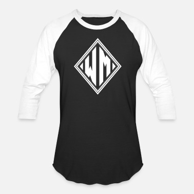 Wm MONOGRAMS INITIALEN DIAMOND WM - Unisex Baseball T-Shirt