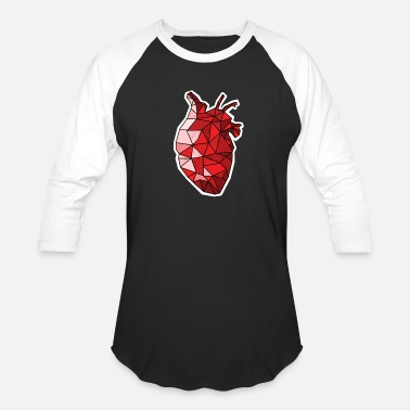 Heart Real Anatomical Human Heart Drawing T-Shirt - Unisex Baseball T-Shirt